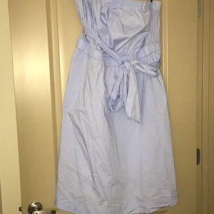 Dresses & Skirts - Strapless light blue dress.